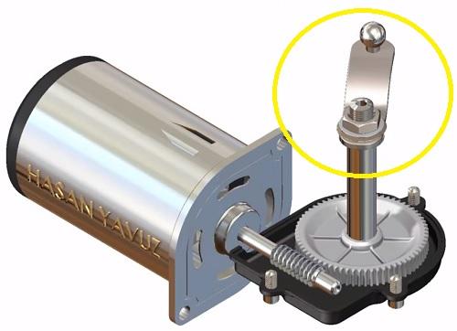 silecek motoru hareket kolu