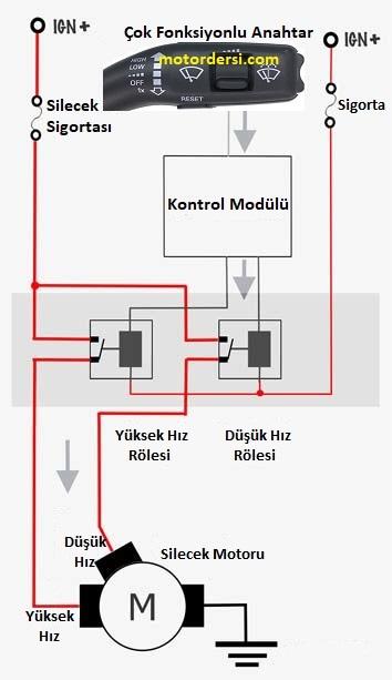 silecek sistemi devre şeması
